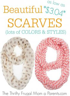 Beautiful Scarves as low as $3.04- lots of colors and styles to choose from!  Perfect for gifting!