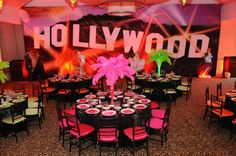 Hollywood Theme Party Decor - mazelmoments.com