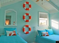 twin bedroom | Stranded on Purpose beach house