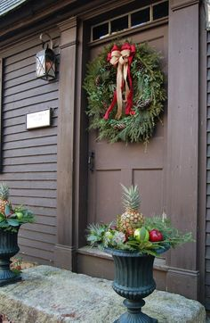 Holiday decorations at Juniper Hill.