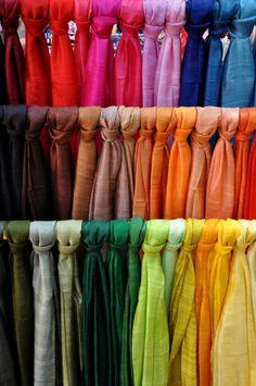 coloured scarfs
