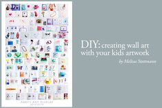 DIY: creating wall art with your kids artwork