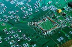 circuit board up close - A circuit board shot up close
