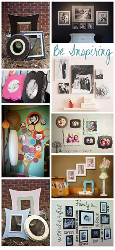 Great way to use portraits to add design and inspire others in your home <3