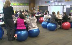 Sara Wright, Indiana Teacher, Swaps Exercise Balls For Desk Chairs In 5th-Grade Classroom