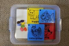 "Great ideas for ""busy boxes"" for little ones during school thanks @Genna Millsap"