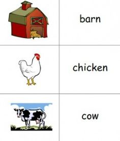 Farm Printable Picture Dictionary