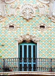 Spanish architecture is great design. This is in Barcelona.