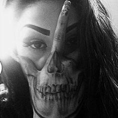 Palm Skull Tattoo