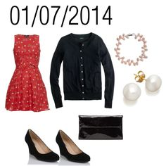 """Red & Black: Tuesday, January 7, 2014"" by josiegirl77 on Polyvore"