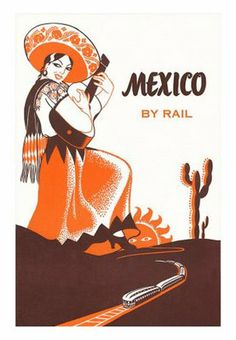 vintage mexican travel poster
