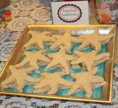 Starfish Shaped Tuna Fish Sandwiches