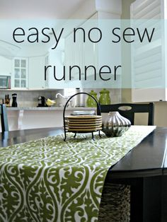 easy no sew table runner - love no sew projects!