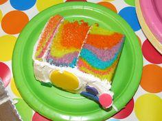 inside her cake