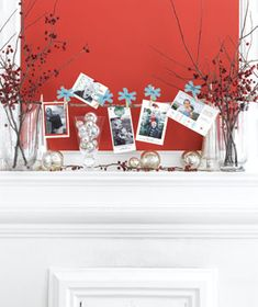 Love a nice display of holiday photos from loved ones front and center =)