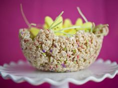 Edible Rice Cereal Bowl - 20 Unconventional Easter Basket Ideas on HGTV from Paper & Cake