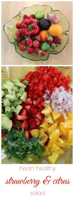 easy and heart healthy strawberry citrus salad
