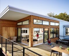 This manufactured home is beautiful. It's also made from sustainable materials, and energy-efficient.
