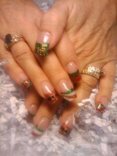Christmas French Twist Nail Art
