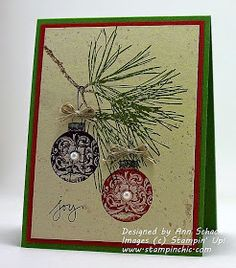 The Stampin' Schach: Ornamental Pine for The Paper Players