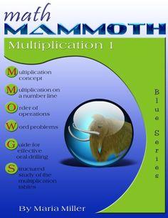 Math Mammoth Multiplication 1 math book cover