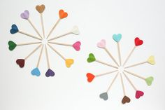 Cupcake Toppers - Hearts