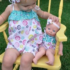 Every little girl has a favorite baby doll and it is up to mommy to help her dress that cutie. Dress your little girls favorite honey up when you make this Romper Doll Clothes Pattern. This easy sewing pattern is so quick that you could make it during one nap time.