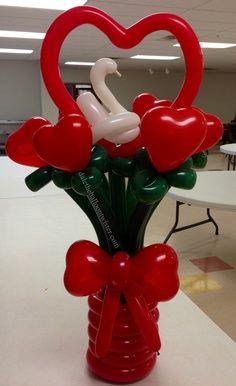 valentine balloon art | Balloon Valentine Figures, Decorations