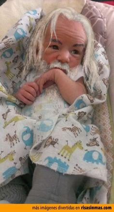 Imagen de Gandalf de bebé.