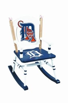 Detroit Tigers Rocking Chair for Brandons man cave when girls feel like bothering daddy!