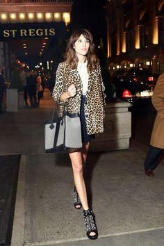 el ABC del estilo de Alexa Chung: estampado de leopardo