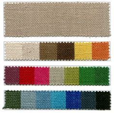 Colored Burlap-great resource for this cool fabric!