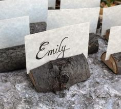 place card holders, escort cards, place cards, name cards, rustic crafts, rustic chic, rustic weddings, tree branches, places