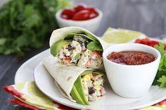 Santa Fe Chicken Salad wraps