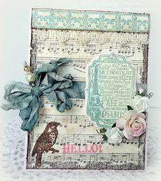 Hello from Paris card designed by Melissa Bove