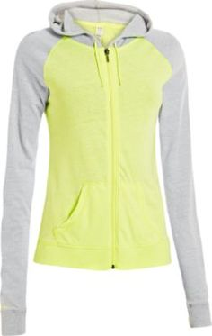 Add some light colors to your workout wardrobe with the Under Armour® Women's Charged Cotton® Legacy Full-Zip Hoodie