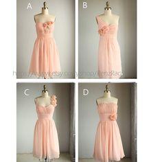 mix match bridesmaid dresses / Romantic / peach color/ dresses /Fairy / Dreamy / Bridesmaid / Party / wedding / Bride (E003)