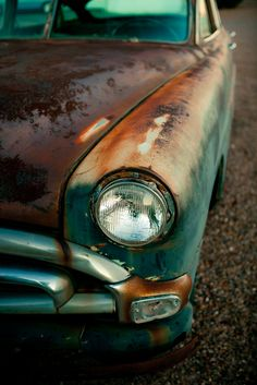 Rusted Vintage Classic Car Photograph - As Seen on Style At Home - READY TO SHIP - Muscle Car Art for Guys - 12X18 Fine Art Photograph. $60.00, via Etsy.