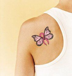 Breast Cancer Butterfly Tattoo Designs | tattoo design breast cancer tattoo design breast cancer butterfly