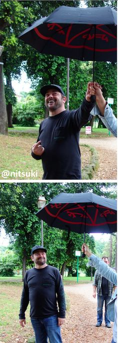 Mark Sheppard at #JIBcon2014. I want one of these <---- Yes, I want a Mark Sheppard too.