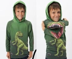 Transforming dino shirt. this is really cool