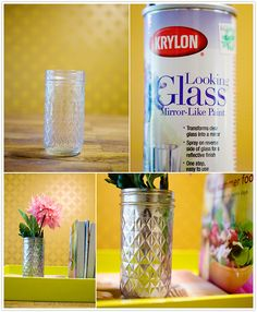 DIY mirror paint vase