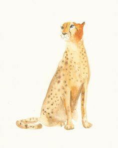 Leopard. i'm loving water color paintings lately.