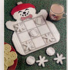 Tic Tac  Snowman Plastic Canvas Pattern. $4.99, via Etsy.