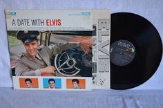 Elvis Presley A Date with Elvis Vinyl Record LP by FloridaFinders, $9.00