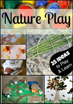 Nature inspired play ideas