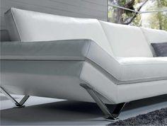 Natuzzi - White Sofa with Metal. ahhhhh