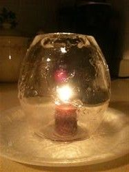 craft, ice candl, globes, candle holders, candles