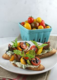 Summer Tomato Crostini with Reduced Balsamic