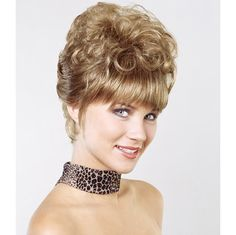 Monique Wig - European drama and flair is achieved by the curvaceous upswept back of this updo. Find this style & more @ thewigcompany.com